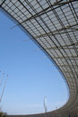 Steel structure roof under blue sky Royalty Free Stock Photo