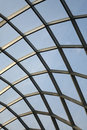 Steel structure roof under blue sky Stock Photo