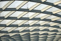 Steel structure roof under blue sky Stock Photography