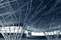 Steel structure under the roof of building Royalty Free Stock Photo