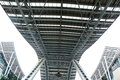 Steel structures sky bridge Royalty Free Stock Photos