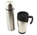 Steel thermos and travel mug Royalty Free Stock Image