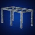 Steel truss girder rooftop construction