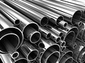 Steel tube pipe metal roll done in d Stock Image