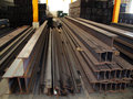 Steel warehouse storage is an alloy of iron with carbon being the primary alloying element the carbon content of is between and by Royalty Free Stock Photo