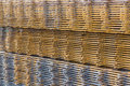 Steel wire mesh for concrete cement construct Royalty Free Stock Photo