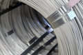 Steel Wire rod - Steel Coils Royalty Free Stock Photo