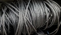 Steel wire rope,   or  cable. Royalty Free Stock Photo