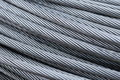 Steel wire rope cable closeup Royalty Free Stock Photo