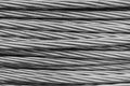 Steel wire rope cable closse up background Stock Photography