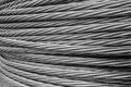 Steel wire rope cable closse up background Royalty Free Stock Photo