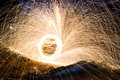 Steel wool sparks Royalty Free Stock Photo