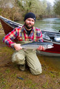 Steelhead Fisherman Royalty Free Stock Photography
