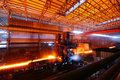 Steelmaking iron works Stock Image