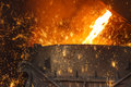 Steelworks Melt the molten steel Royalty Free Stock Photo
