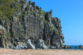 The steep cliff on the peninsula russia primorsky krai morskoy reserve Royalty Free Stock Photography