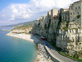 Steep coast in Calabria, Italy Stock Photos