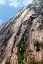 Steep rocks of yellow mountain also called huangshan locates in anhui province china the are very and magnificent Royalty Free Stock Image