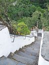 Steep stairs in the mountains of Serra da Lousã, Portugal Royalty Free Stock Photo
