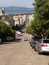 Steep street in San Francisco Stock Photos