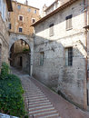A steep street in san marino cobbled Royalty Free Stock Images