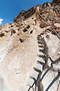 Steep trail, Bandelier National Monument Royalty Free Stock Photo
