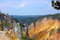 Steep Walls Of Grand Canyon of Yellowstone Formed By Yellowstone River Royalty Free Stock Photo