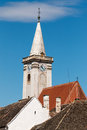 Steeple nice white from austria Royalty Free Stock Photography
