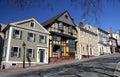 Steeple Street in Providence  Rhode Island Royalty Free Stock Photo