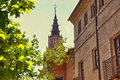 Steeple in toledo high dynamic range effect Royalty Free Stock Photos