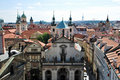 Steeples and roofs of Prague Stock Image