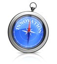 Steer for innovation d illustration of compass pointing to Royalty Free Stock Photo