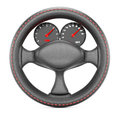 Steering wheel with dashboard