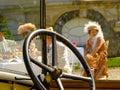 Steering wheel Fashion ladies club highclass rich money Royalty Free Stock Photo