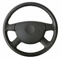 Steering wheel isolated on white Royalty Free Stock Images