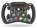 Steering wheel of racing car vector illustration EPS 10 Royalty Free Stock Photo