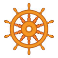 Steering wheel of a ship, boat and yacht. vector Royalty Free Stock Photo