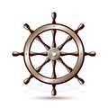 Steering wheel for ship on white background vector illustration Royalty Free Stock Photo