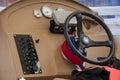 Steering wheel of speed boat Royalty Free Stock Photo