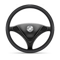 Steering wheel on a white background Stock Photo