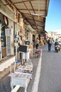 Steet in the old city of jaffa israel apr stores and people flea market tel aviv israel Stock Photo