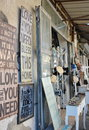 Steet in the old city of jaffa israel apr stores and people flea market tel aviv israel Stock Images