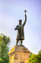 Stefan cel Mare Monument in Chisinau Royalty Free Stock Photo