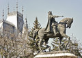Stefan cel mare statue in moldavia stephen the great romania Royalty Free Stock Photos
