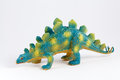 Stegosaurus colorful dinosaur toy isolated over white background Royalty Free Stock Photography