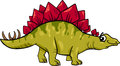 Stegosaurus dinosaur cartoon illustration of prehistoric Stock Photography