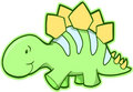 Stegosaurus Dinosaur Vector Royalty Free Stock Photo