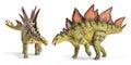 Stegosaurus, genus of armored dinosaur with clipping path. Royalty Free Stock Photo