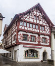 Stein am rhein switzerland the facade of a historical half timber building Stock Photos