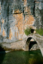 Steinbrücke in Zagori Stockfotos